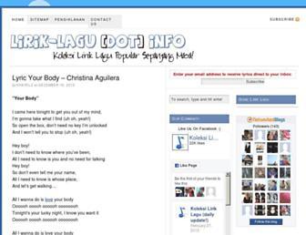 lirik-lagu.info screenshot