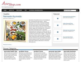 Thumbshot of Ayurshop.com