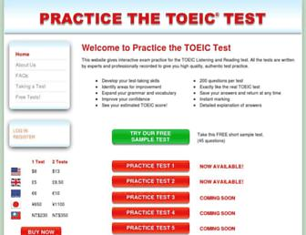 practice-the-toeic-test.com screenshot