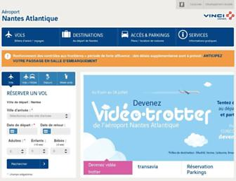 nantes.aeroport.fr screenshot