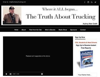 truthabouttrucking.com screenshot