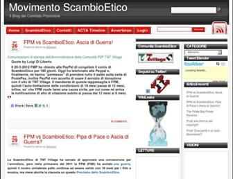 Thumbshot of Scambioetico.org