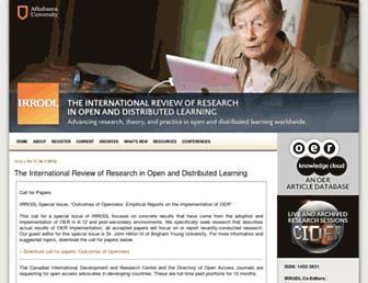 irrodl.org screenshot