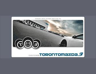 Main page screenshot of torontomazda3.ca