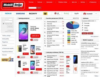 Main page screenshot of mobili.lt