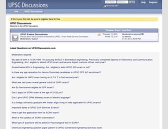 upscdiscussions.com screenshot