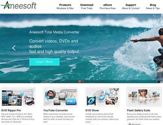 aneesoft.com screenshot