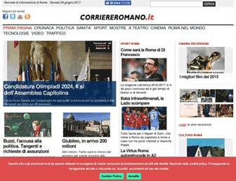 Main page screenshot of corriereromano.it