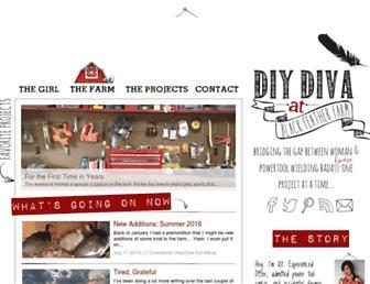 Main page screenshot of diydiva.net