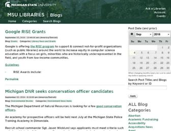 Main page screenshot of blogpublic.lib.msu.edu