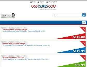 pass4sures.com screenshot