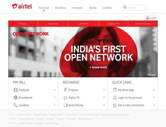 airtel.in screenshot