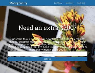 moneypantry.com screenshot