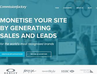 commissionfactory.com screenshot