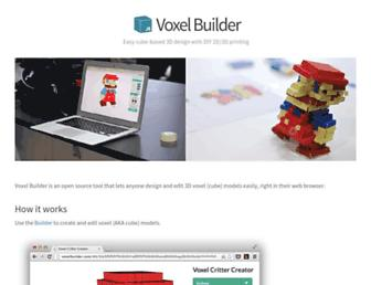 voxelbuilder.com screenshot