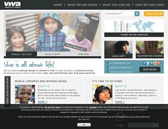 Main page screenshot of viva.org