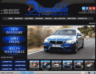 dependableautoaz.com screenshot