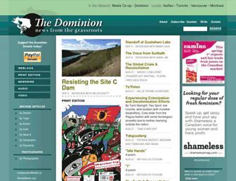 Main page screenshot of dominionpaper.ca