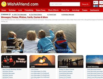 wishafriend.com screenshot