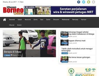 utusanborneo.com.my screenshot