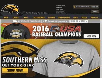 shop.southernmiss.com screenshot