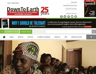 Main page screenshot of downtoearth.org.in