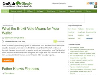 Main page screenshot of getrichslowly.org