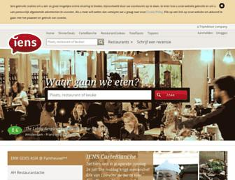 Main page screenshot of iens.nl