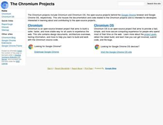 chromium.org screenshot