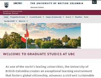 grad.ubc.ca screenshot