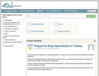 helpdesk.commercialnetworkservices.net screenshot