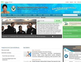 depkes.go.id screenshot