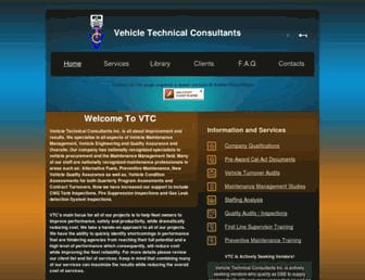 Main page screenshot of vtconsultants.net