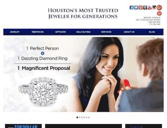 houstonjewelry.com screenshot