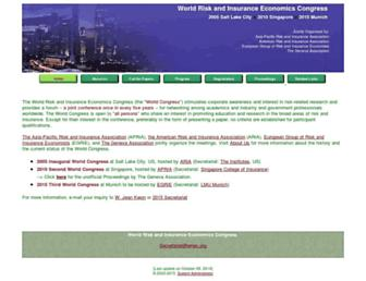 Main page screenshot of wriec.org