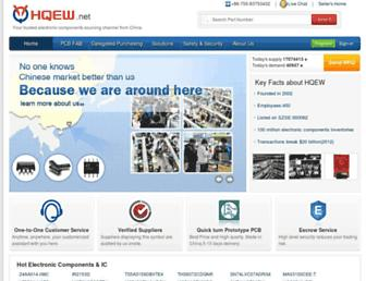 Main page screenshot of hqew.net