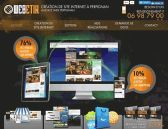 Main page screenshot of webetik.fr