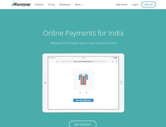 razorpay.com screenshot