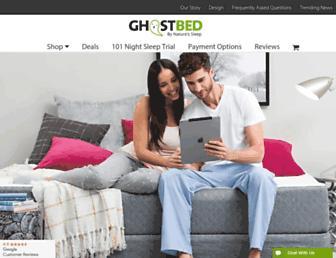 ghostbed.com screenshot