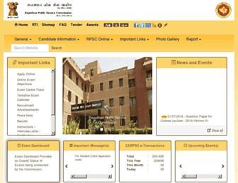 rpsc.rajasthan.gov.in screenshot