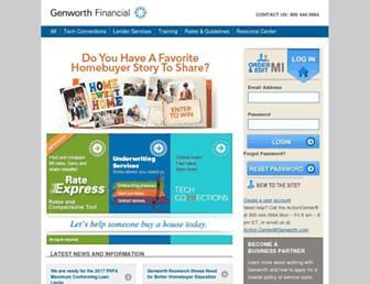 mortgageinsurance.genworth.com screenshot