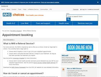 Thumbshot of Chooseandbook.nhs.uk