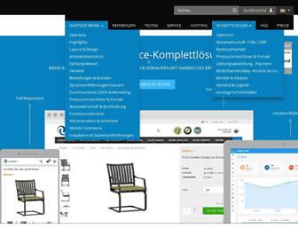 Main page screenshot of gambio.de