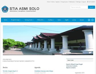stia-asmisolo.ac.id screenshot