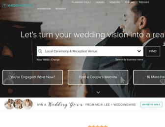 weddingwire.com screenshot