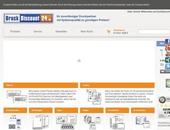 Main page screenshot of druckdiscount24.de
