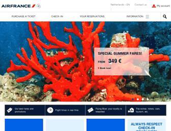 Main page screenshot of airfrance.nl