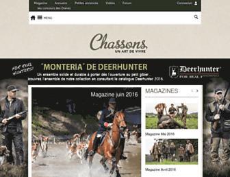 chassons.com screenshot