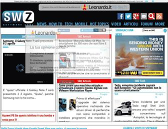 Main page screenshot of news.swzone.it