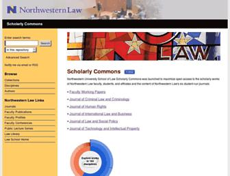 scholarlycommons.law.northwestern.edu screenshot